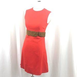 Vintage Stacey Ames Mod 60s Orange Linen Dress M